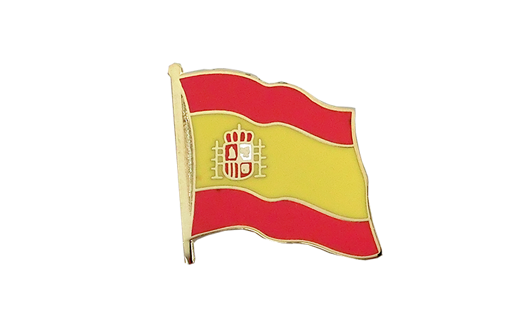 Flag Lapel Pin Spain with crest