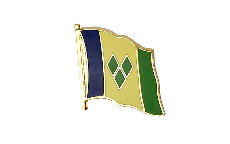 Pin's drapeau Saint Vincent et les Grenadines | saint-vincentais 2x2 cm