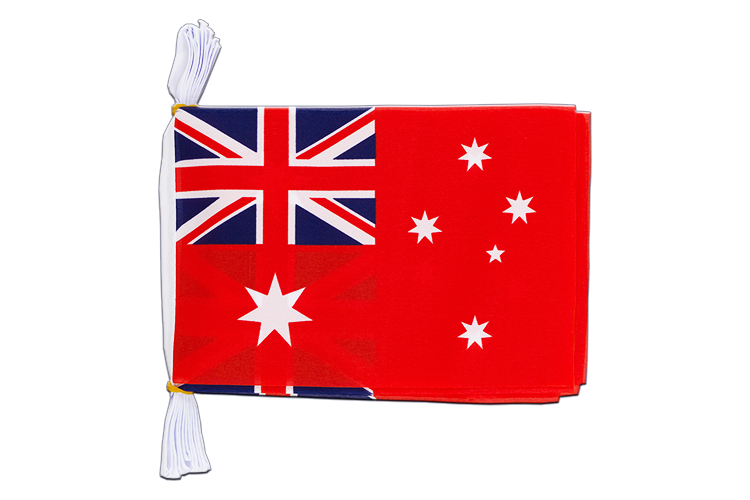 Mini Guirlande Australie Red Ensign - 15 x 22 cm, 3 m