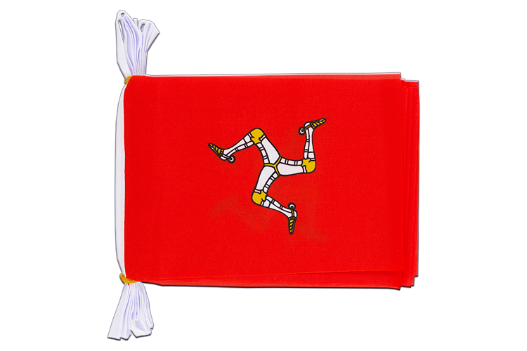 "Mini Flag Bunting Isle of man - 6x9"", 3 m"