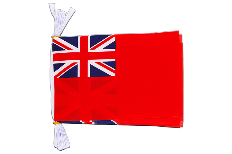 Mini Guirlande Red Ensign - 15 x 22 cm, 3 m