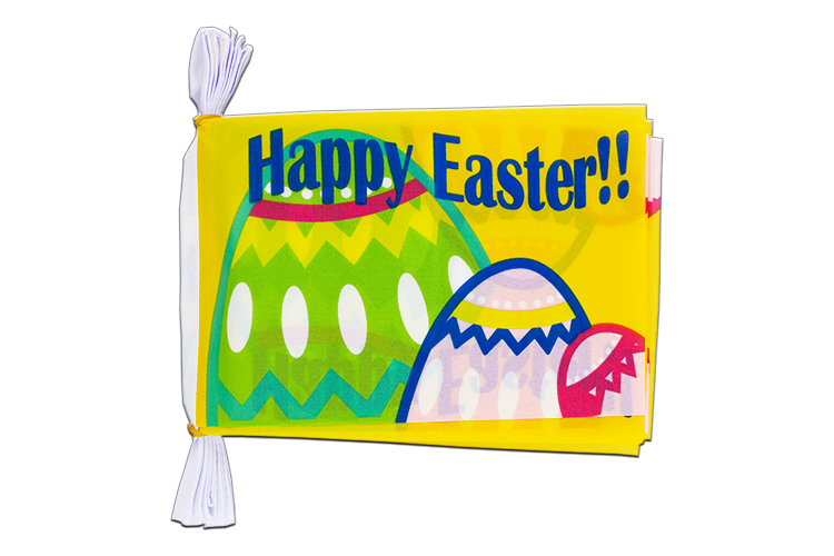 "Happy Easter Flag Bunting 6x9"", 3 m"