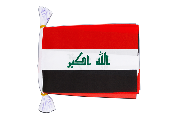"Mini Flag Bunting Iraq 2009 - 6x9"", 3 m"