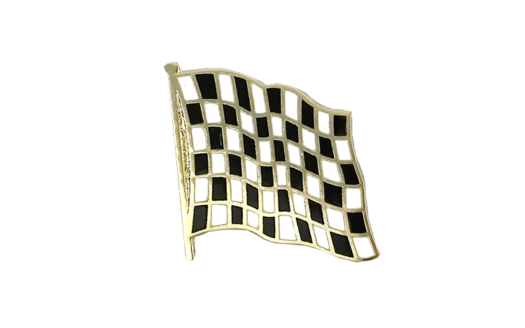 Flag Lapel Pin Checkered