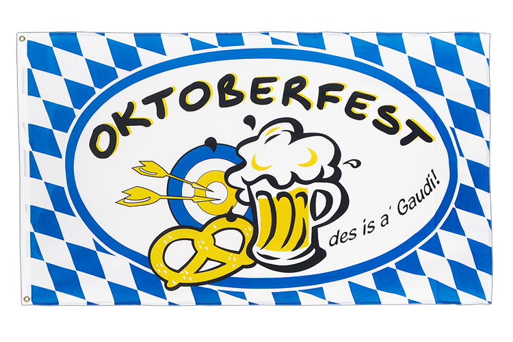 Oktoberfest, des is a gaudi - 3x5 ft Flag