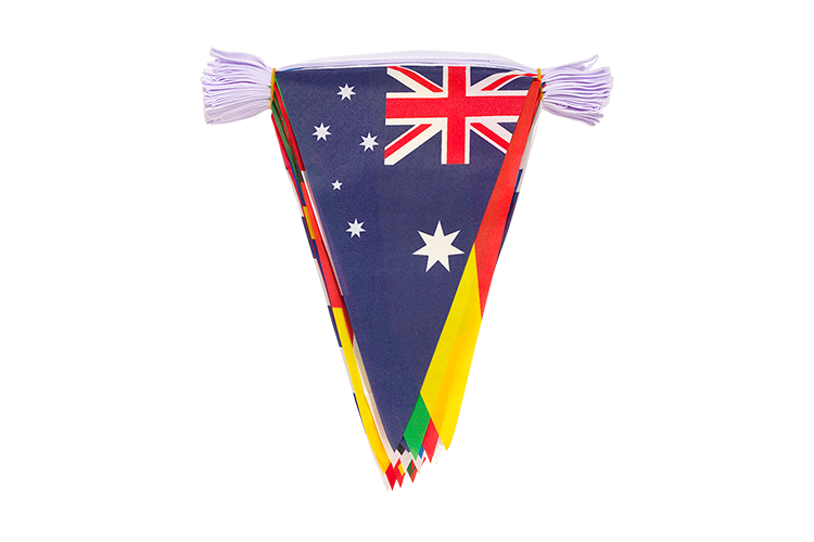 WC 2018 - Pennant Bunting 8x12""