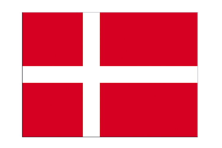 "Denmark - Flag Sticker 3x4"", 5 pcs"