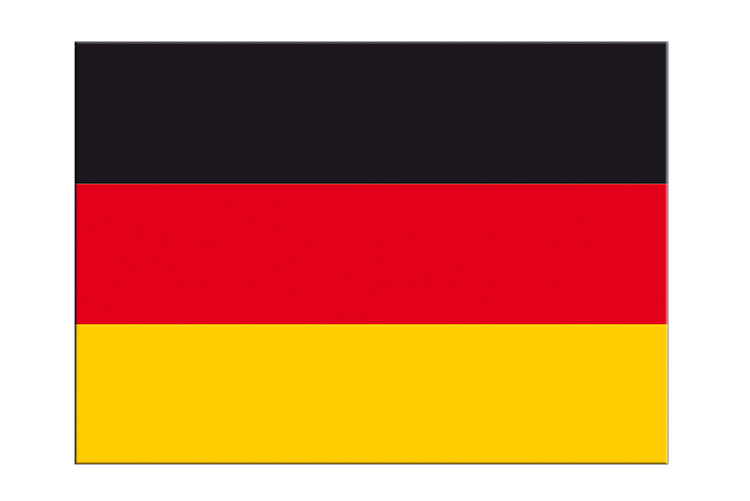 "Germany - Flag Sticker 3x4"", 5 pcs"