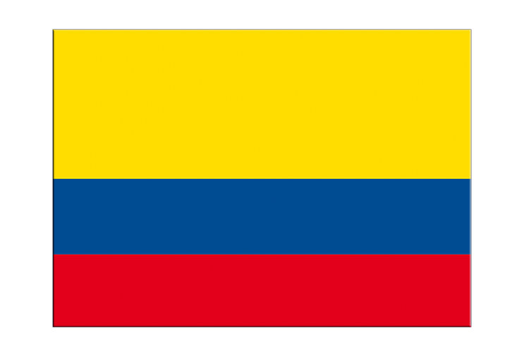 "Colombia - Flag Sticker 3x4"", 5 pcs"