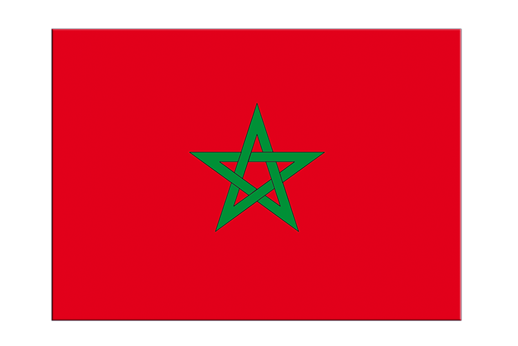 "Morocco - Flag Sticker 3x4"", 5 pcs"
