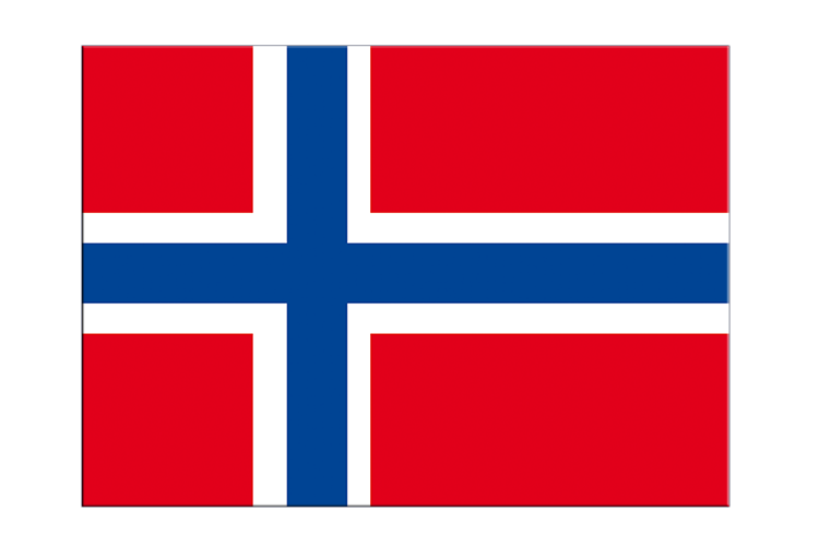 "Norway - Flag Sticker 3x4"", 5 pcs"