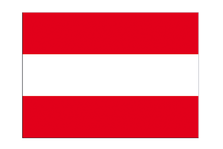 "Austria - Flag Sticker 3x4"", 5 pcs"