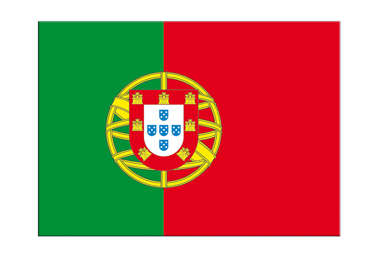 "Portugal - Flag Sticker 3x4"", 5 pcs"