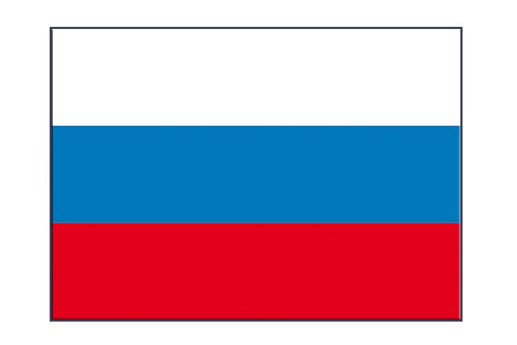 Russland Aufkleber 7 x 10 cm, 5 Stück