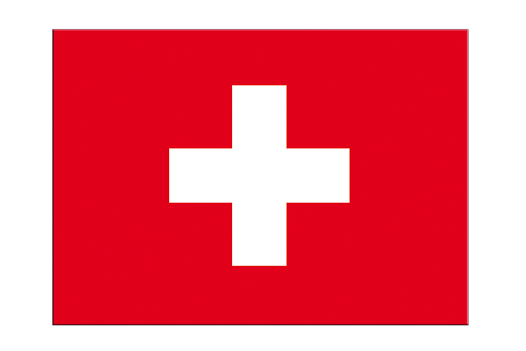 "Switzerland - Flag Sticker 3x4"", 5 pcs"