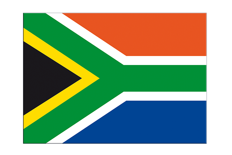 "South Africa - Flag Sticker 3x4"", 5 pcs"