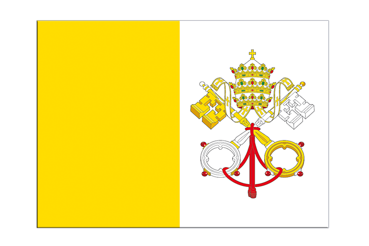 "Vatican - Flag Sticker 3x4"", 5 pcs"