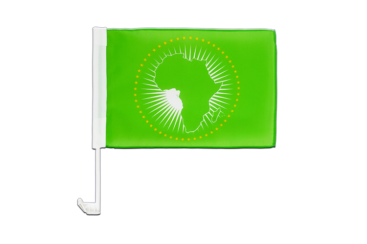 Car Flag African Union AU - 12x16""