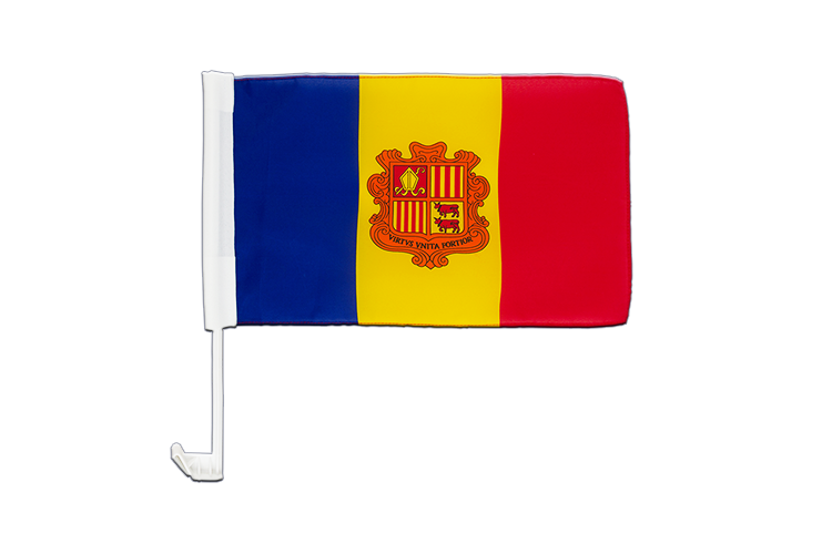 Andorra Car Flag 12x16""