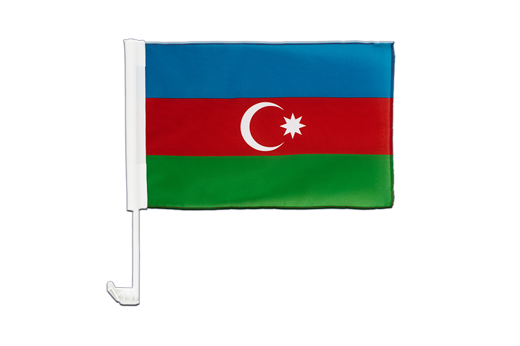 Car Flag Azerbaijan - 12x16""