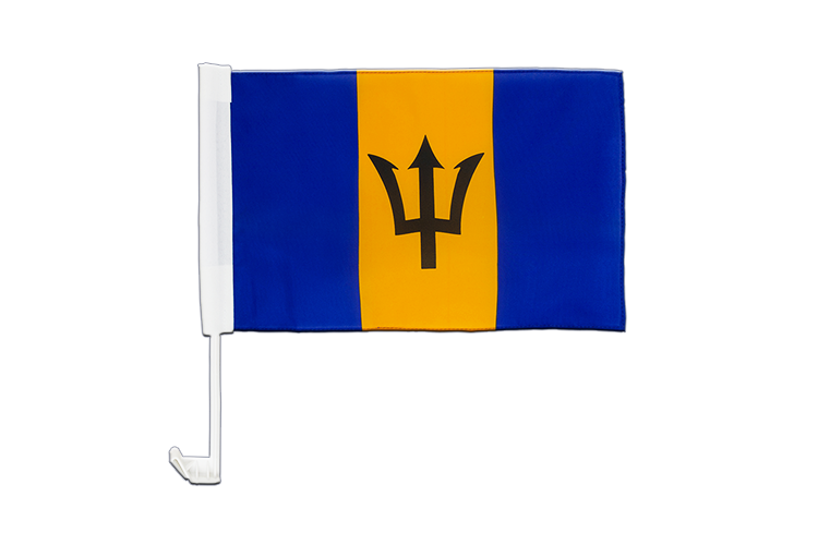 Barbados Car Flag 12x16""