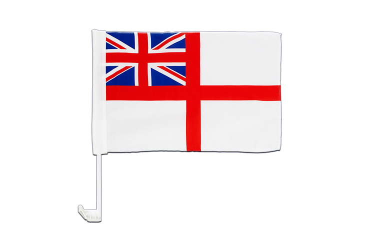 Drapeau voiture Royaume-Uni Naval Ensign of the White Squadron 30x40 cm