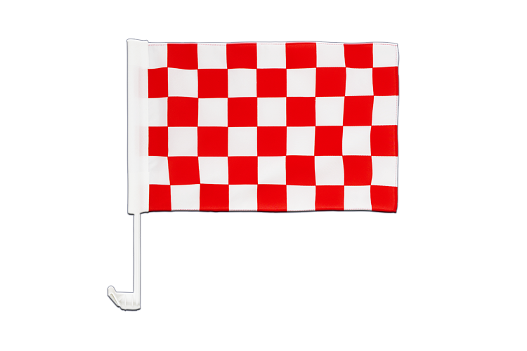 Car Flag Checkered Red-White - 12x16""