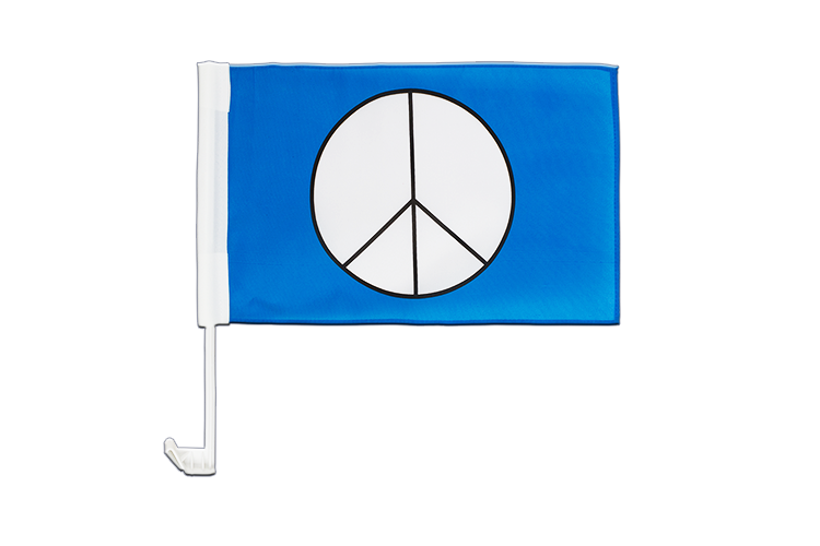 Car Flag Peace CND - 12x16""