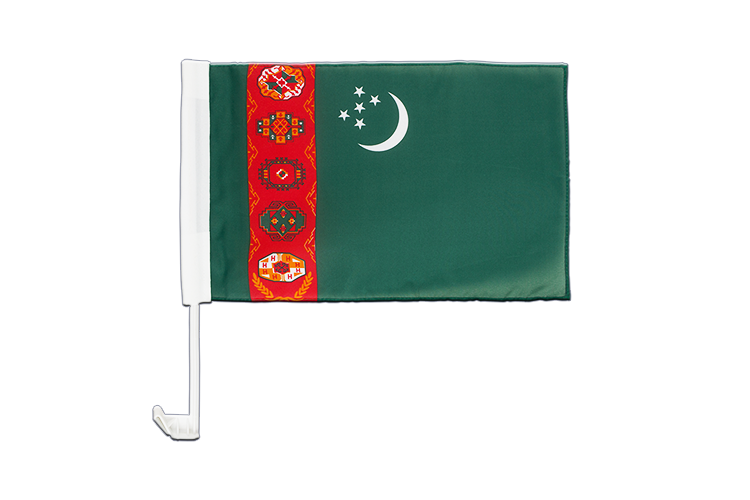 Car Flag Turkmenistan - 12x16""