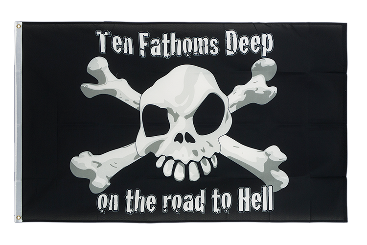 Vente drapeau Pirate Ten Fathoms Deep