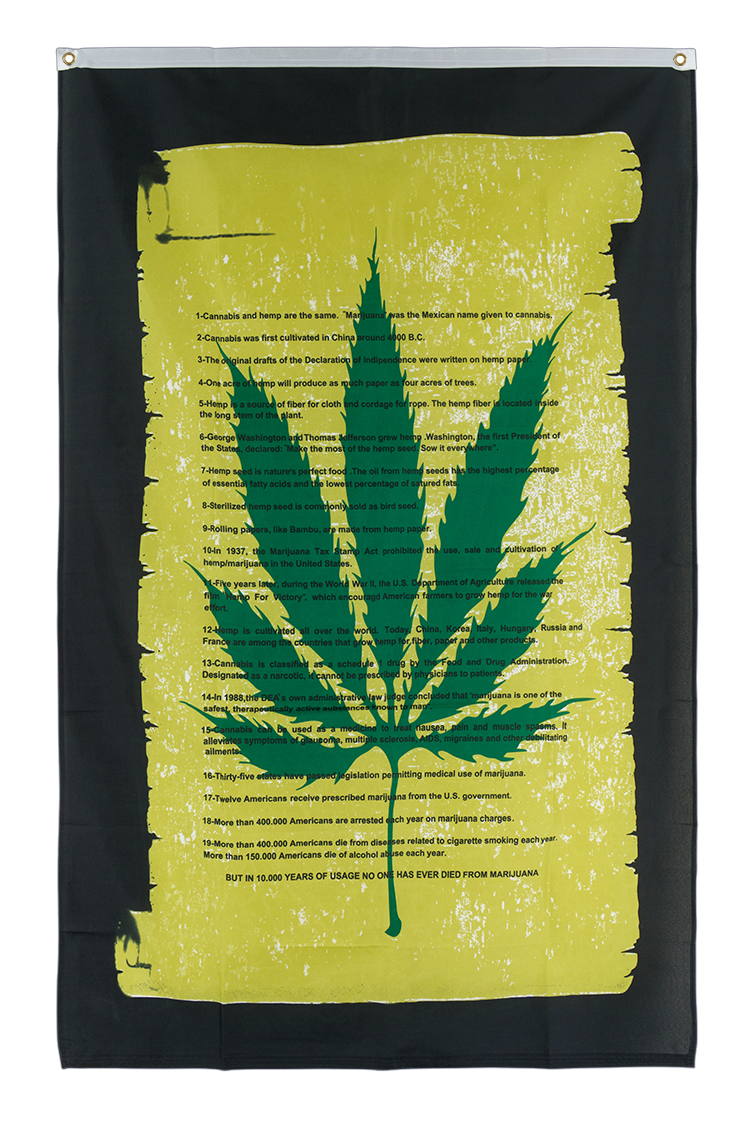 Marijuana Scroll - 3x5 ft Flag