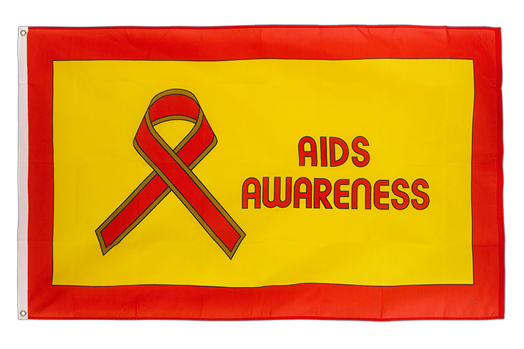 Aids Awareness Flagge - 90 x 150 cm