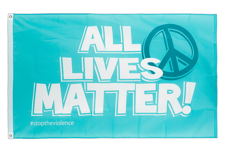 All Lives Matter Flagge - 90 x 150 cm