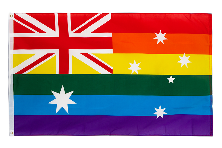 Rainbow Australia - 3x5 ft Flag