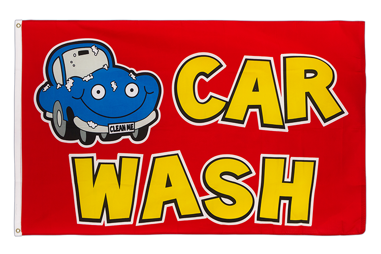 Car Wash - 3x5 ft Flag