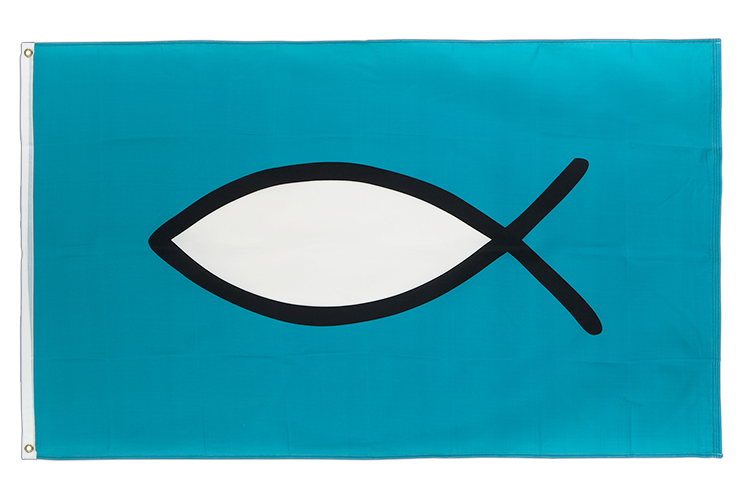 Christian Fish - 3x5 ft Flag
