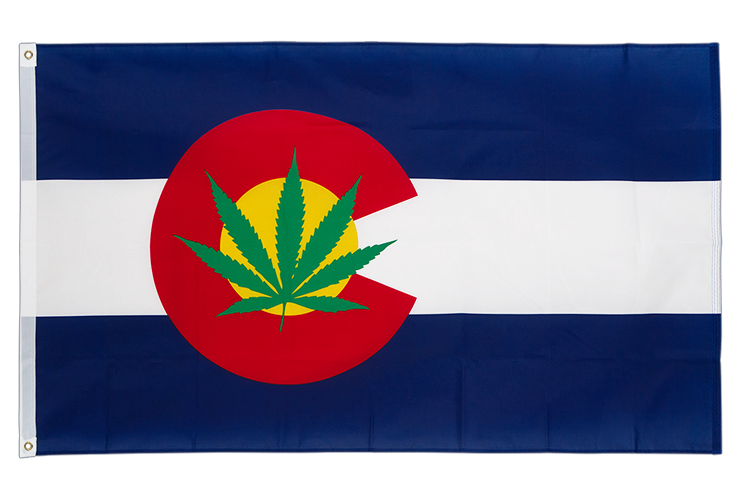 USA Colorado Marijuana Flagge - 90 x 150 cm