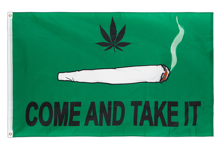Drapeau Spliff Come and take it 90 x 150 cm