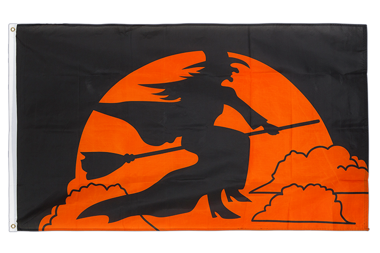 Vente drapeau Halloween socière orange