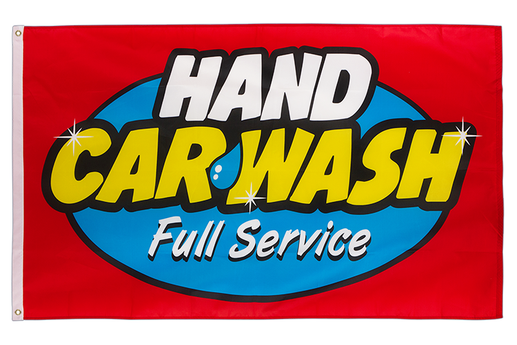Hand Car Wash Full Service - 3x5 ft Flag