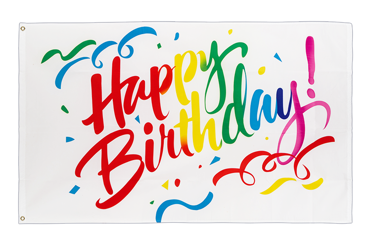 Happy Birthday colorful - 3x5 ft Flag