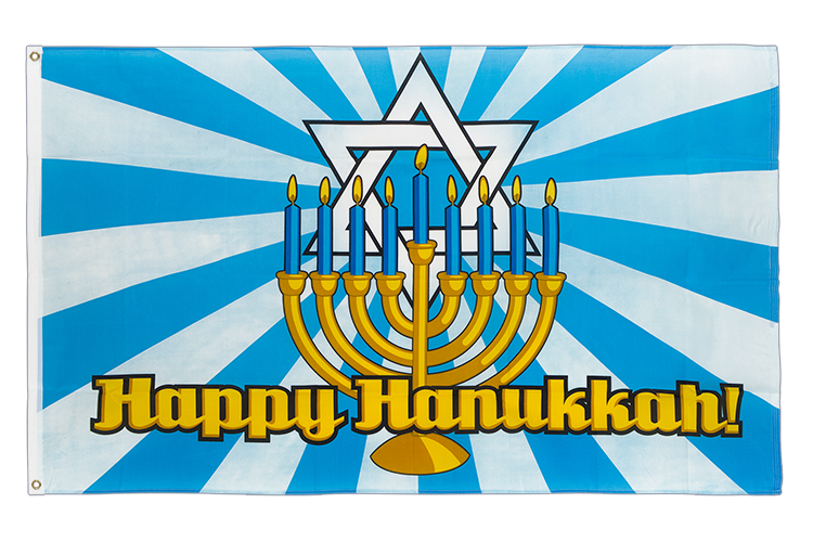 Happy Hanukkah - 3x5 ft Flag