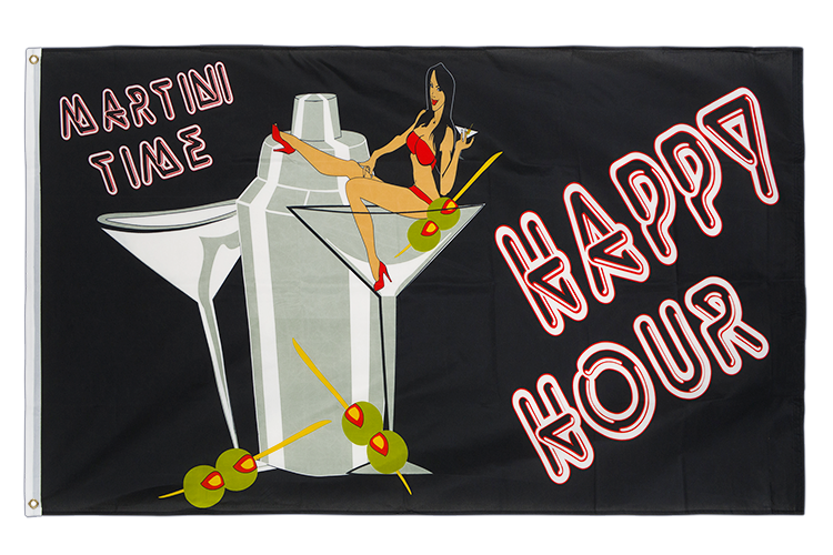 Vente drapeau Happy Hour