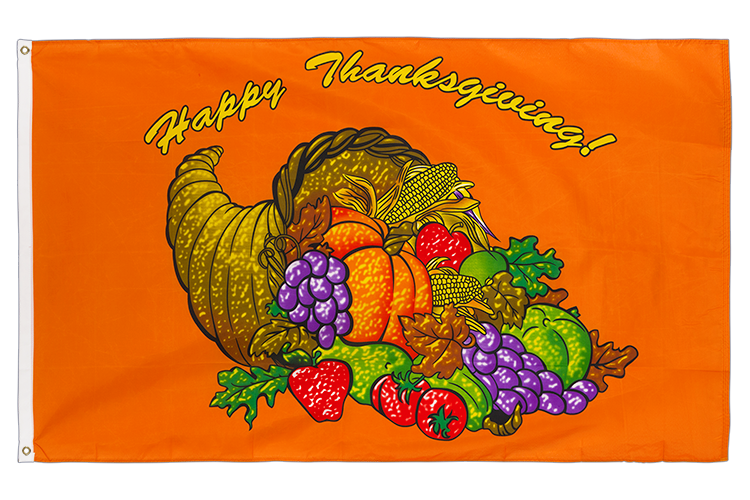 Vente drapeau Happy Thanksgiving