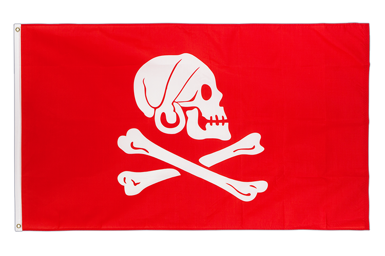 Pirate Henry Avery red - 3x5 ft Flag