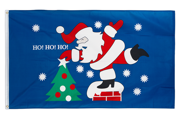 Ho Ho Ho Santa - 3x5 ft Flag
