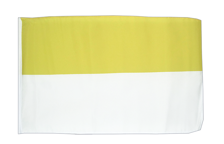 Church yellow white - 12x18 in Flag