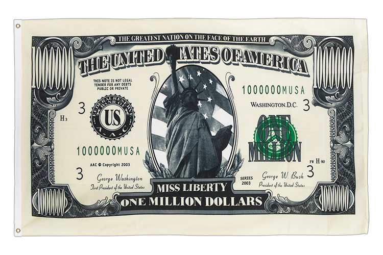 Million Dollars - 3x5 ft Flag