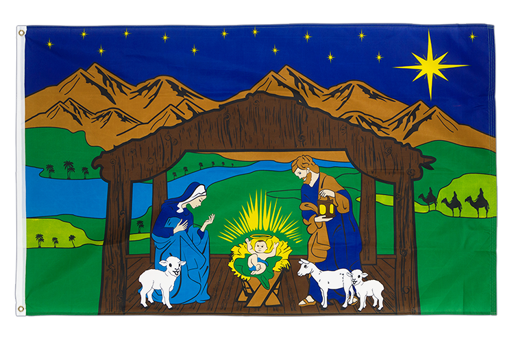 Nativity Scene - 3x5 ft Flag