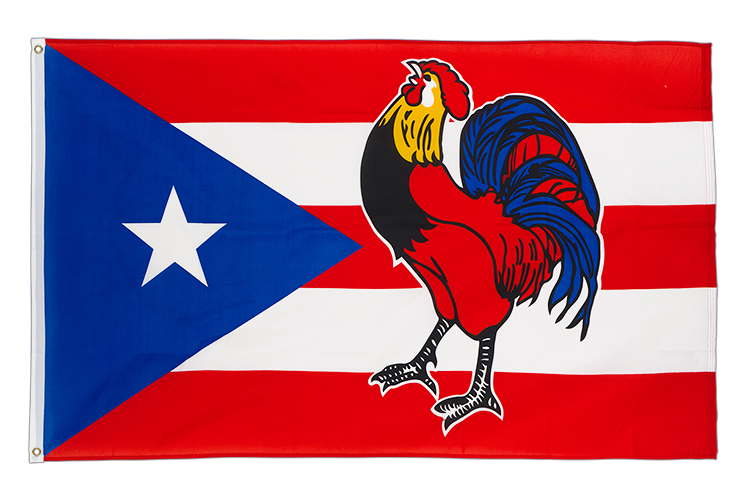 Puerto Rico Cock - 3x5 ft Flag